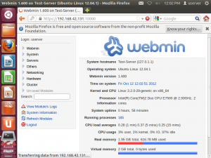 วิธีการ Install Webmin บน Ubuntu Server 12.04