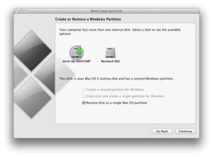 ถอนการติดตั้ง Windows บน Mac