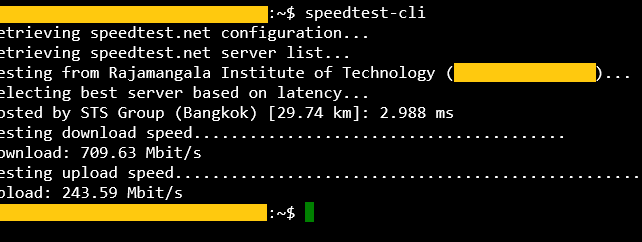 How to test internet speed via CLI.