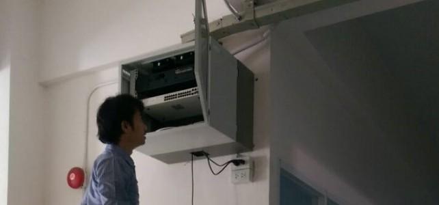 ติดตั้ง switch ห้อง Smart classroom และ E-classroom