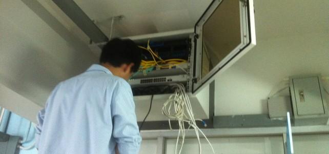 เปลี่ยนอุปกรณ์ Switch ศูนย์พณิชยการพระนคร อาคาร 90 ปี ชั้น 5 หน้าห้อง7501(Accounting)