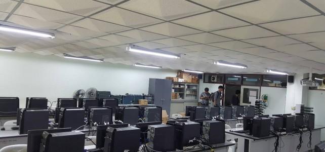 จัดเตรียมห้องเรียนห้องปฎิบัติการเครือข่ายศูนย์พระนครเหนือ