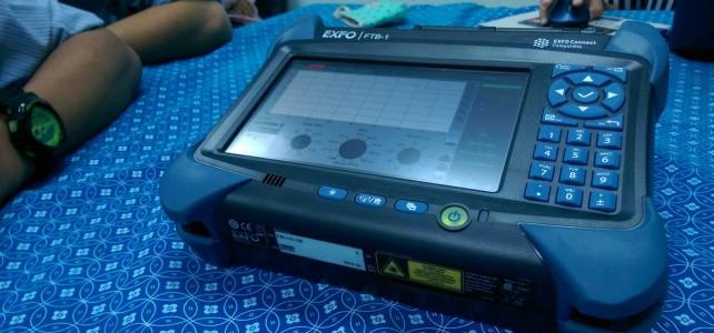 แลกเปลี่ยนความรู้การใช้เครื่องตรวจวัดใยแก้วนำแสงและตรวจสัญญาณWIFI ณ ศูนย์เทเวศร์