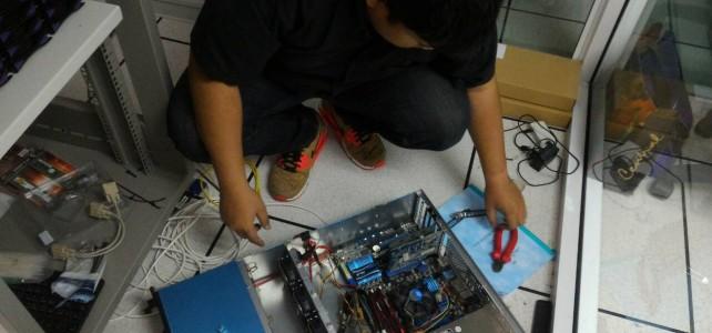 เปลี่ยน mainboard เครื่อง server กล้องวงจรปิด