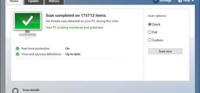 วิธีการใช้โปรแกรมแอนตี้ไวรัส windows defender บน win10