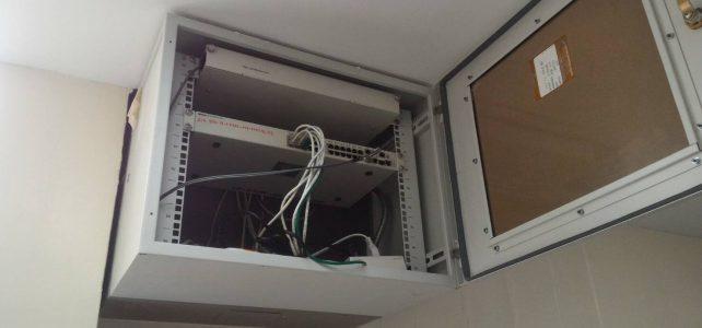 เปลี่ยนอุปกรณ์ Switch ห้องศูนย์การจัดการความรู้