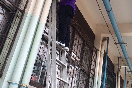 ซ่อมบำรุงอุปกรณ์ภายนอกอาคารห้องพยาบาล (ศูนย์พระนครเหนือ)