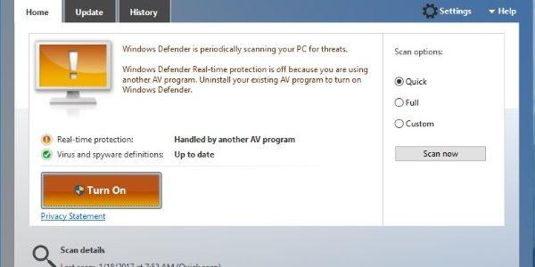 วิธีการตั้งไม่ให้โปรแกรม windows defender ยกเว้นสแกนโฟลเดอร์หรือไฟล์ บน windows10