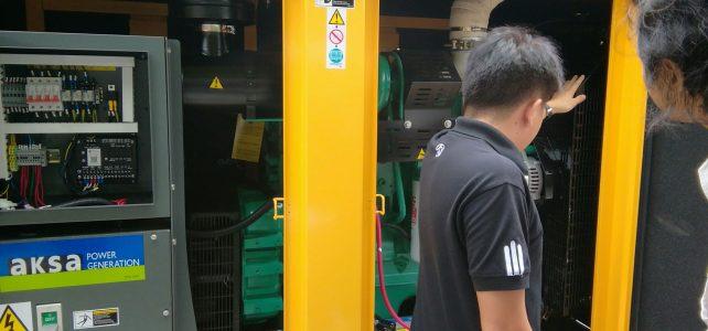 อบรมการใช้งานเครื่องกำเนิดไฟ (generator) ศูนย์พณิชยการพระนคร