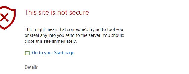 เเนะนำการเเก้ปัญหาError Code: DLG_FLAGS_INVALID_CA ใน Microsoft Edge