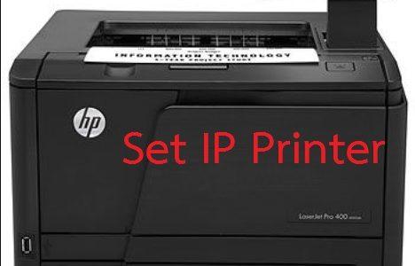 วิธีติดตั้งปริ้นเตอร์ ผ่าน IP